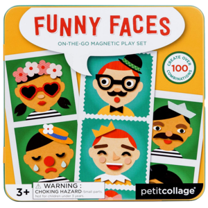 Chronicle Books Magnetic Play Set | Funny Faces