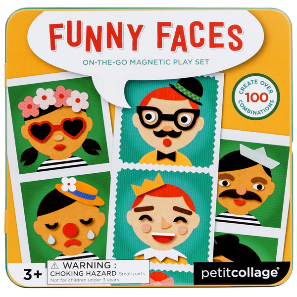 Petit Collage Magnetic Play Set | Funny Faces