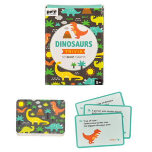 Petit Collage Trivia Cards | Dinosaur