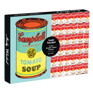 Chronicle Books Puzzle | 500PC 2-Sided | Andy Warhol Soup Cans