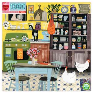 EEBOO Puzzle | 1000PC | Kitchen Chicken