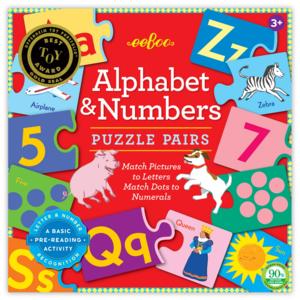EEBOO Puzzle Pairs | Alphabet & Numbers