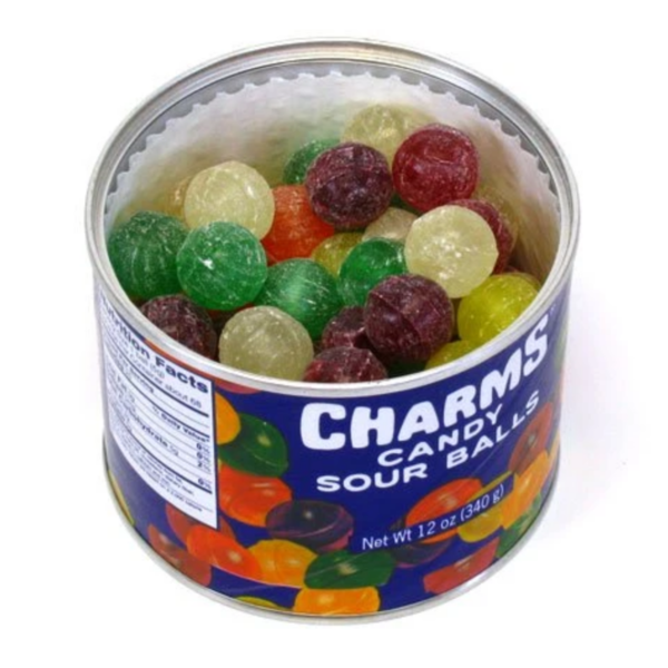 Candy | Charms Sour Ball Tin