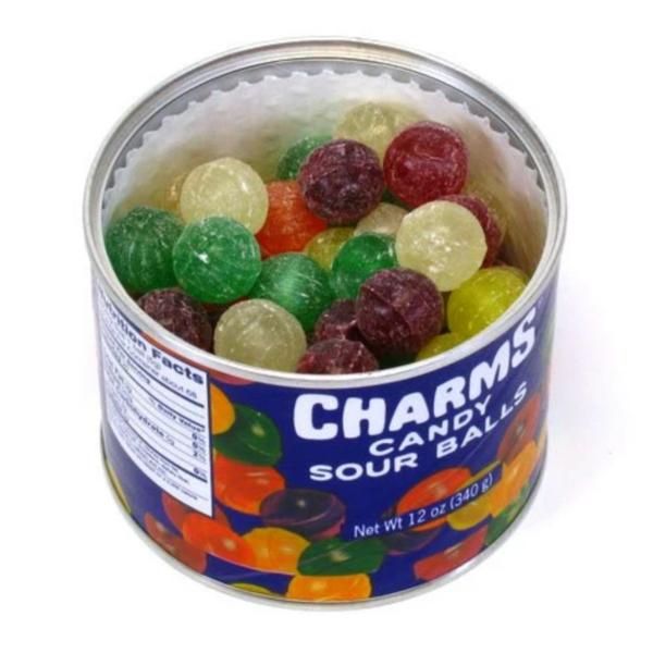 Nassau-Hobbs & Dobbs Candy | Charms Sour Ball Tin