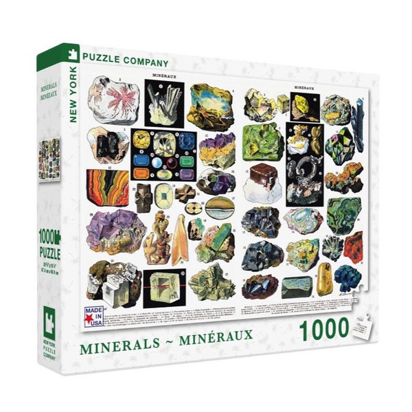 New York Puzzle Company Puzzle | 1000pc | Minerals & Gems