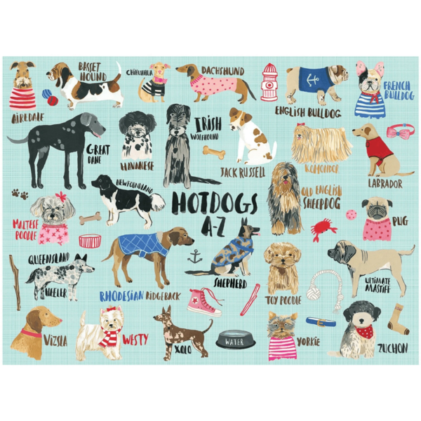 Puzzle | 1000PC | Hot Dogs A-Z