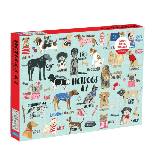 Chronicle Books Puzzle   1000PC   Hot Dogs A-Z