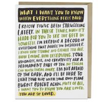 Emily McDowell Card | Everything Dark