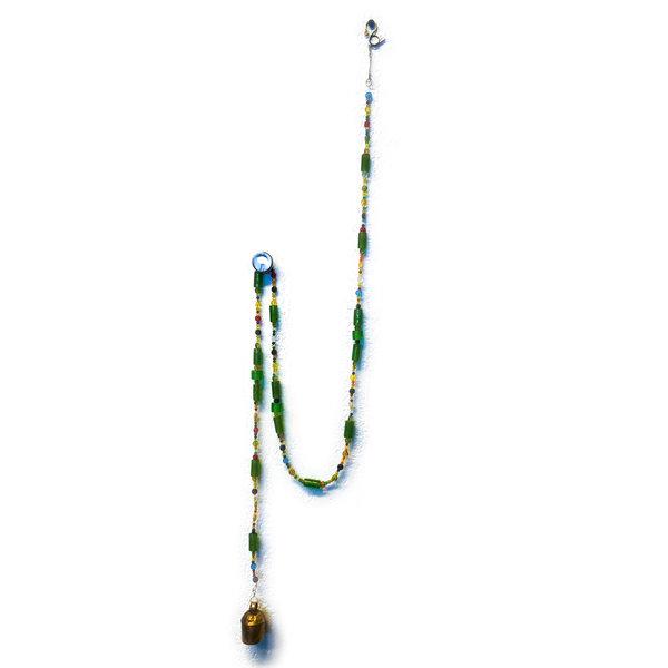 "Moksha Imports Chime | Glass Bead | Rainbow | 65"""