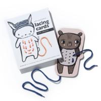 Wee Gallery Lacing Cards | Baby Animals