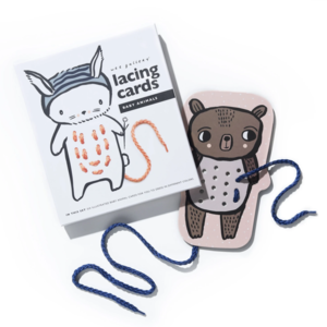 Wee Gallery Lacing Cards | Baby Animals