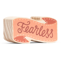 Compendium Wood Sign | Mini | Fearless
