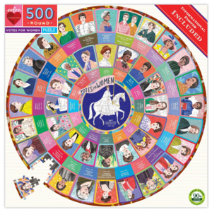 EEBOO Puzzle | 500PC Round | Votes For Women