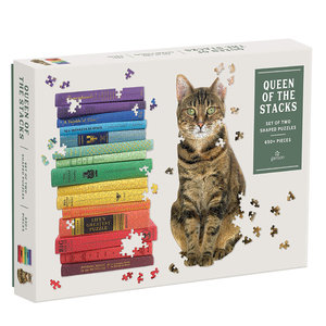 Chronicle Books Puzzle | 650PC Shaped Set | Queen Of The Stacks