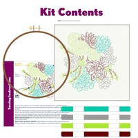 Studio MME Embroidery Kit | Succulent Garden