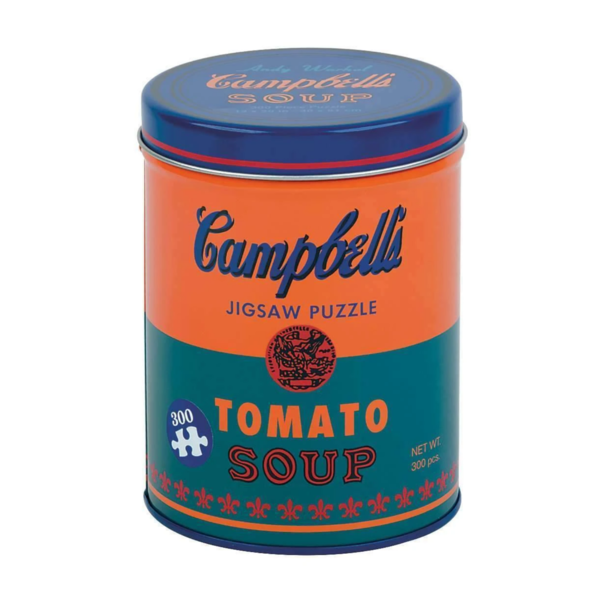 Chronicle Books Puzzle | 300pc Canister | Soup Can Orange