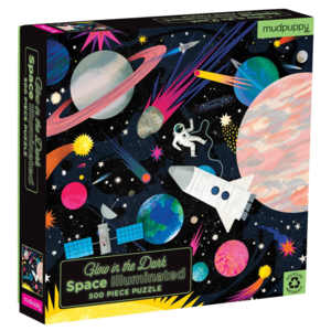 Chronicle Books Puzzle | 500PC | Space Illuminated Glow