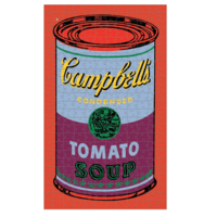 Puzzle | 300PC Canister |  Soup Can Red Violet
