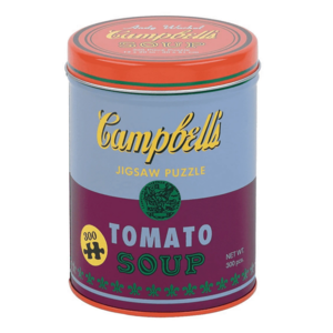 Chronicle Books Puzzle   300PC Canister    Soup Can Red Violet