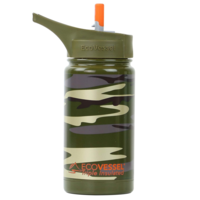 EcoVessel Water Bottle   Green Camo   13oz