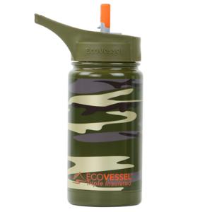 EcoVessel Water Bottle | Green Camo | 13oz