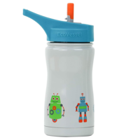 EcoVessel Water Bottle | Gray Robots | 13oz