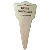 Amaranth Stoneware Plant Marker | Weeda Non Grata