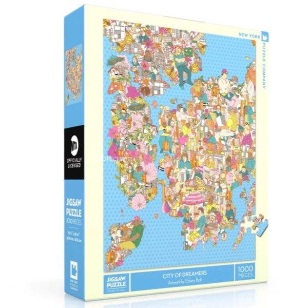 New York Puzzle Company Puzzle | 1000PC | City Of Dreamers