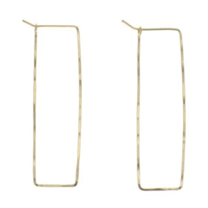 Lotus Jewelry Studio Earrings | Highwire Hoops | Gold