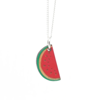 Unpossible Cuts Necklace | Cut Wood Watermelon