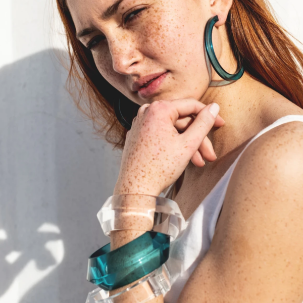 Ink + Alloy Bracelet | Lucite | Clear