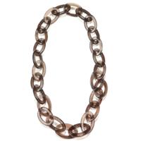 Ink + Alloy Necklace   Lucite Oval Chain