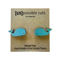 Unpossible Cuts Earrings | Wood