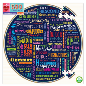 EEBOO Puzzle | 500PC Round | 100 Great Words