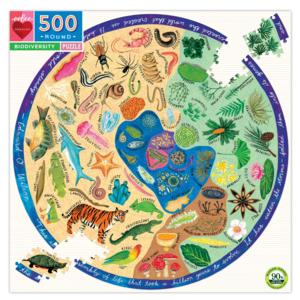 EEBOO Puzzle | 500PC Round | Biodiversity
