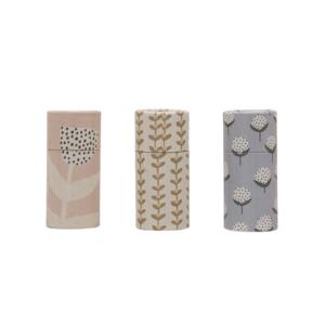 Creative Co-Op Matchbox Tube   Floral Pattern