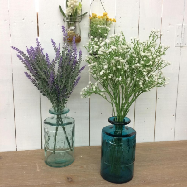 Time Concept Inc. Glass Vase   Recycled   Blue