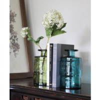 Time Concept Inc. Glass Vase | Recycled | Green