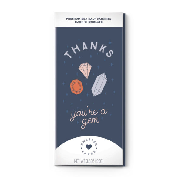 Sweeter Cards Card | Chocolate Bar | Thanks You're A Gem