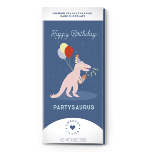 Sweeter Cards Card | Chocolate Bar | Happy Bday Partysaurus