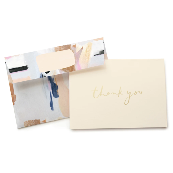 Our Heiday Boxed Thank You Cards | Blue Abstract