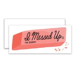 Card   Sorry   Eraser