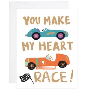 9th Letter Press Card | Race Heart