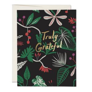 Red Cap Cards Card | Grateful Foliage
