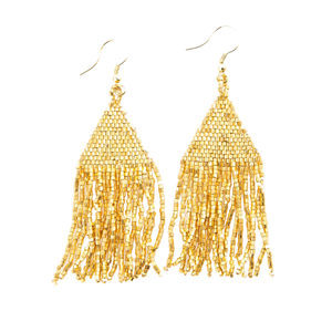 Ink + Alloy Earring | Petite Fringe | Gold Luxe