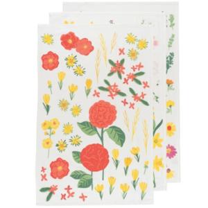 Now Designs Tea Towel Set | Floursack | Flowers of the Month