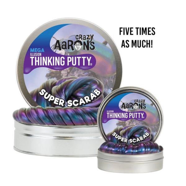 Crazy Aaron's Puttyworld Thinking Putty | Super Scarab | Mega