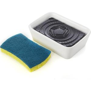 Full Circle Home Dish Sponge + Ceramic Dish