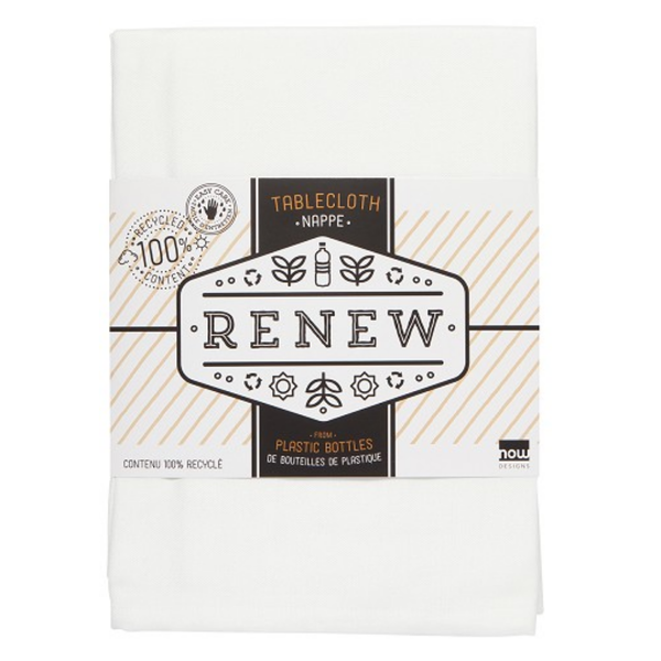 Now Designs Tablecloth | Renew White | 60x120