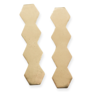 Ink + Alloy Earrings | Solid Brass Post | Totem